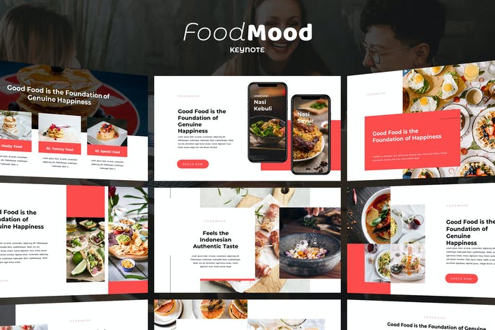 Thumbnail for FoodMood - Keynote Template