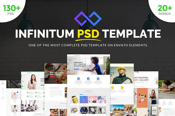Thumbnail for Infinitum - Ultimate PSD Template