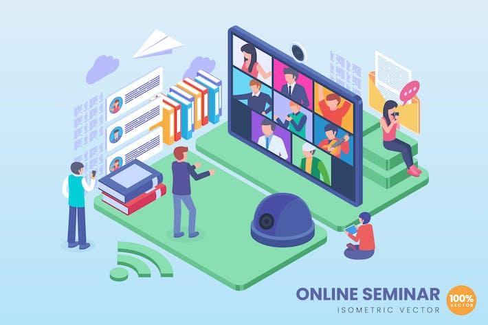 Thumbnail for Isometric Online Seminar Concept