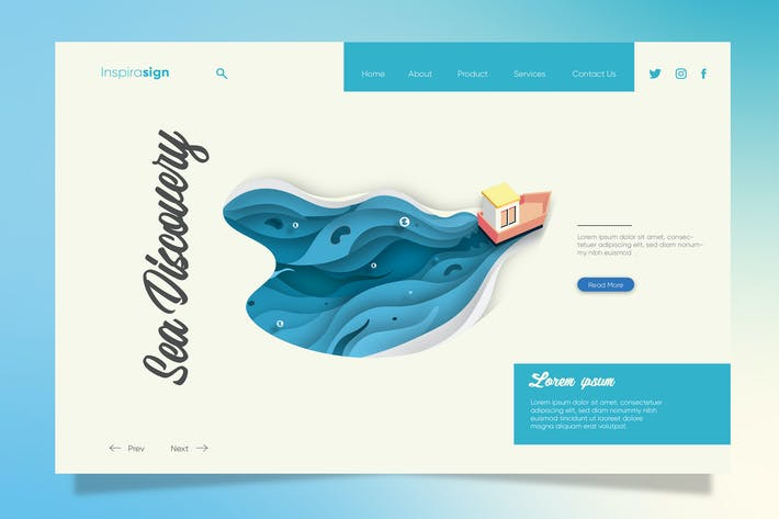 Thumbnail for Discovery Sea - Banner & Landing Page