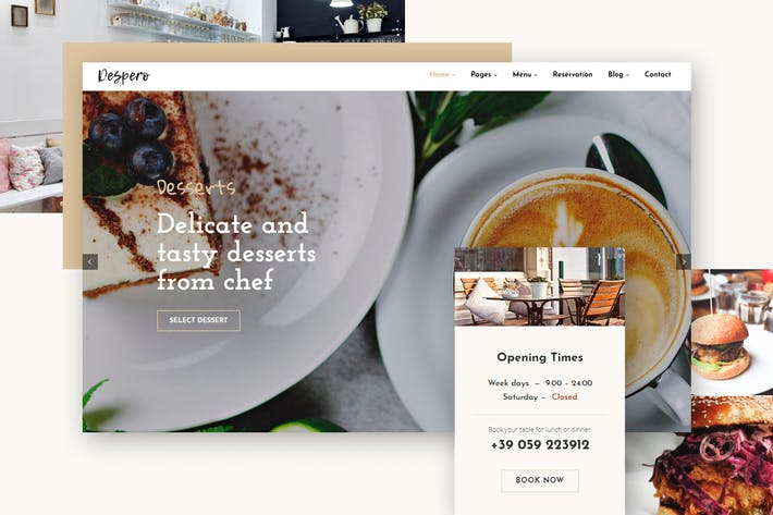 Thumbnail for Despero Cafe & Restaurant WordPress Theme