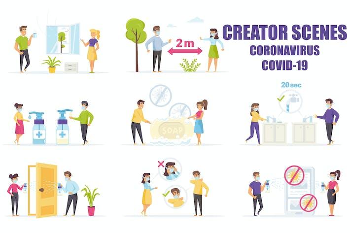 Thumbnail for Scene Creator Battle the Coronavirus COVID-19