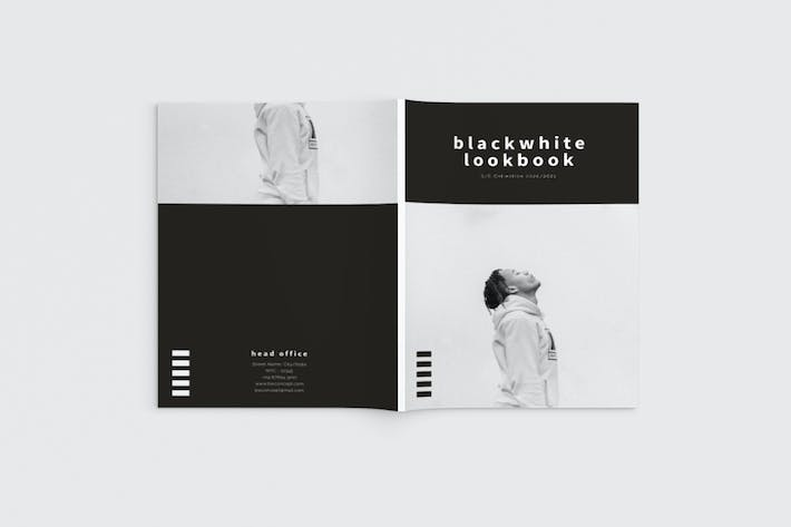 Thumbnail for Black and White Fashion Lookbook