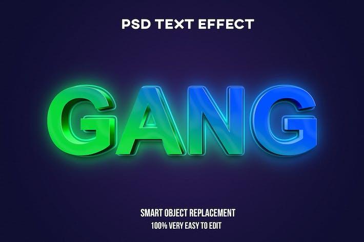 Gradient glow text effect
