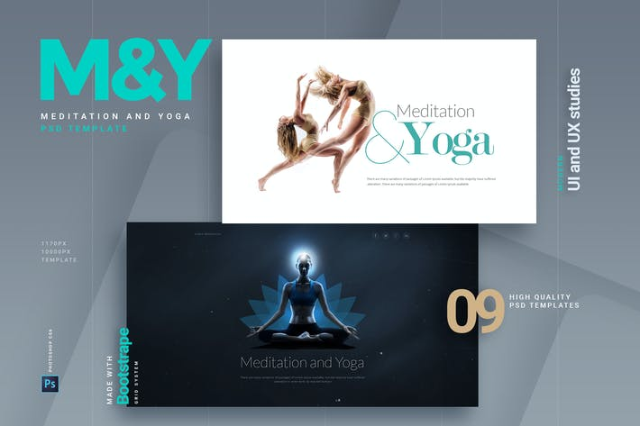 Thumbnail for Meditation and Yoga | Multipurpose PSD Template