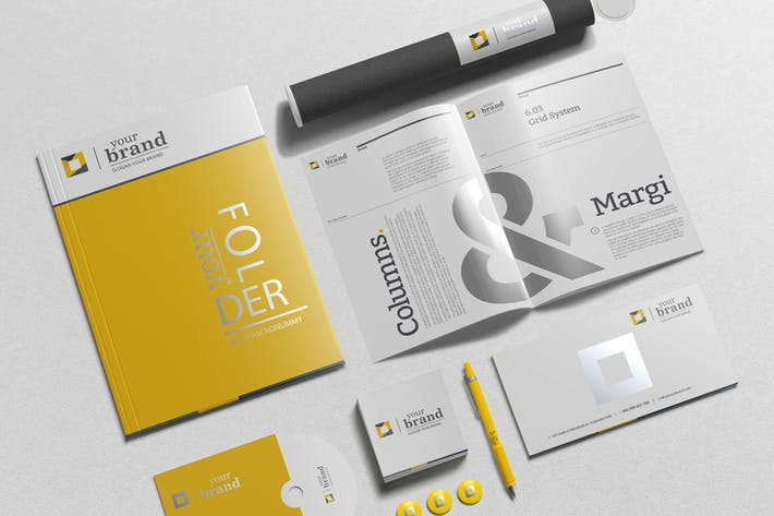 Thumbnail for Branding-Stationery Mockups V3