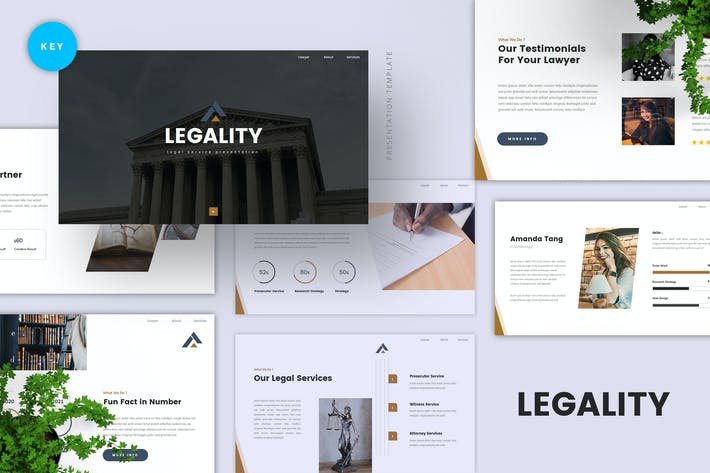 Thumbnail for Legal Service Keynote Template
