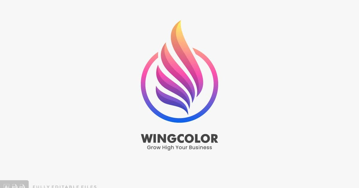 Download Abstract Wing Color Logo by ivan_artnivora