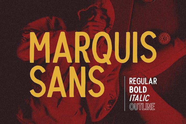 Thumbnail for Marquis Sans - Letra de letra a mano