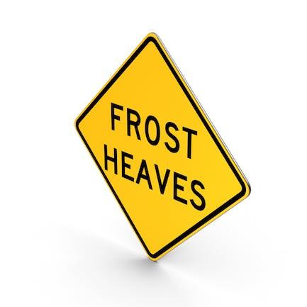 Frost Heaves Idaho Verkehrszeichen