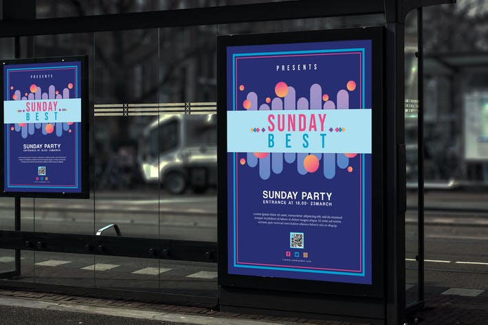 Thumbnail for Sunday Best - Party and Festival Poster HR
