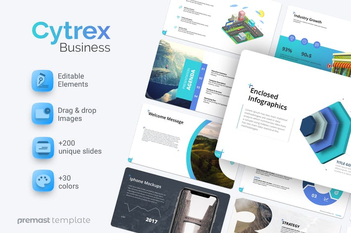 Thumbnail for Cytrex Business Plan PowerPoint Template