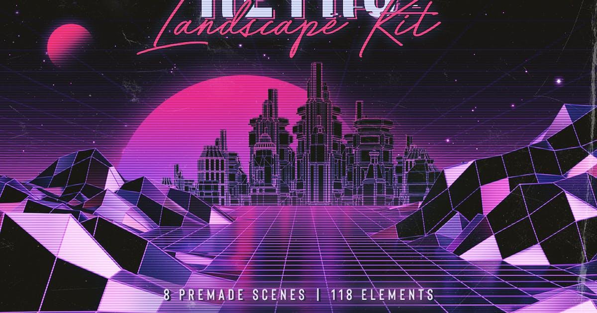 Download Retro Landscape Kit by MiksKS