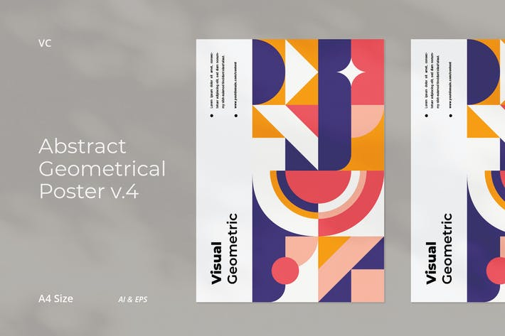 Thumbnail for Abstract Geometrical Poster v.4