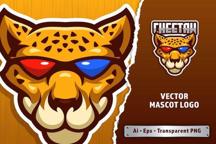 Cool Cheetah E-sport Logo Template
