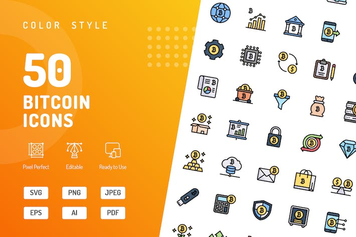 Thumbnail for Bitcoin Color Icons