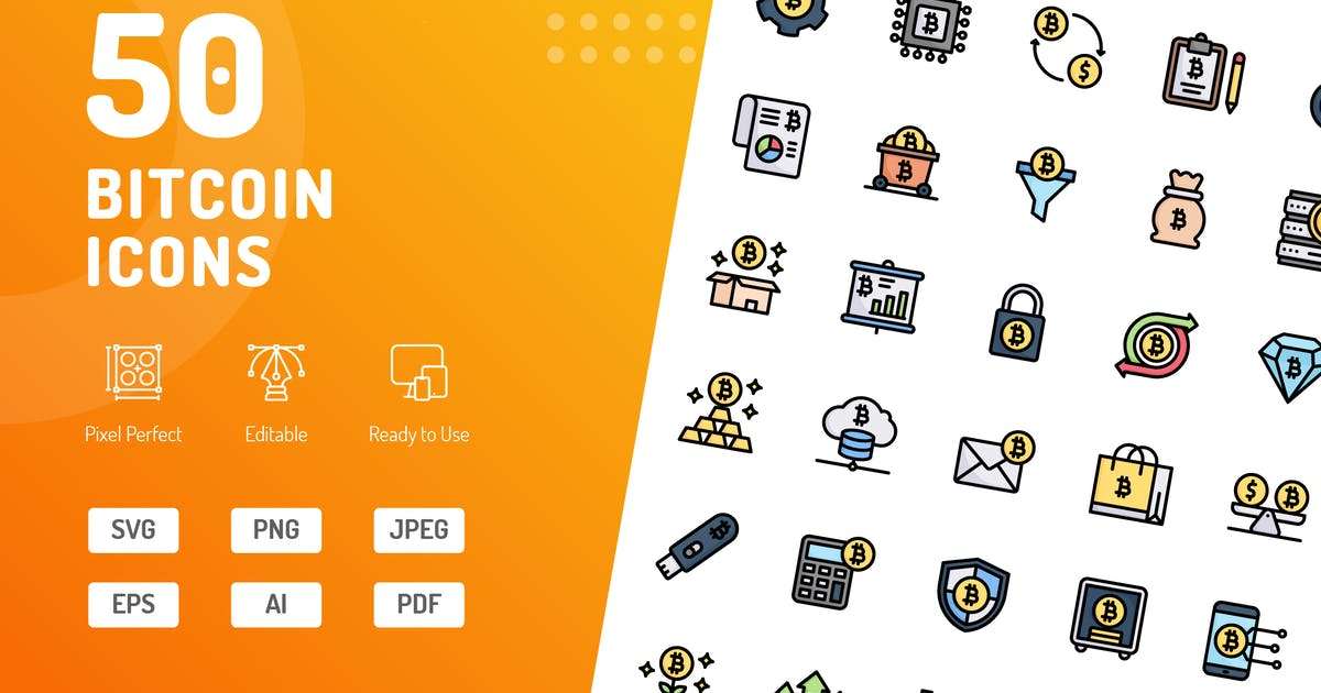 Download Bitcoin Color Icons by kerismaker