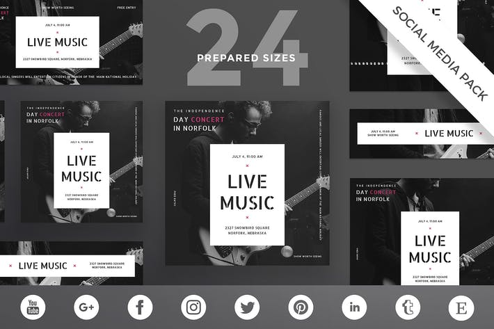 Music Concert Social Media Pack Template