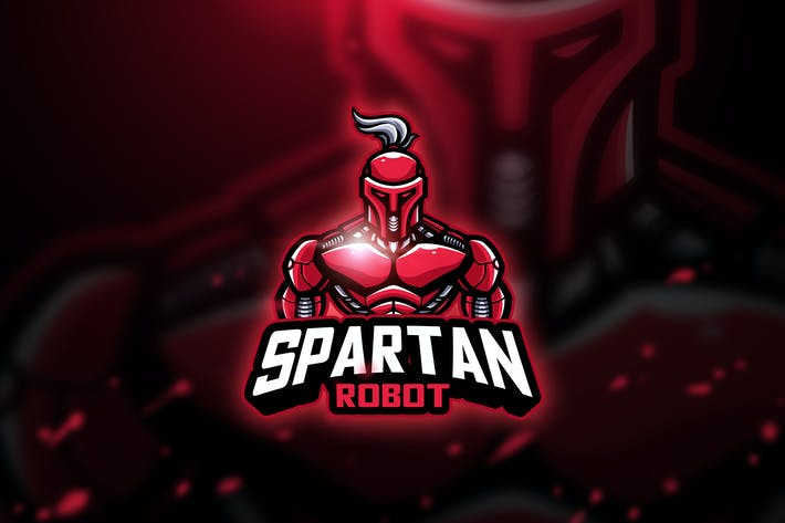 Thumbnail for Spartan robot - Mascot & Esport Logo