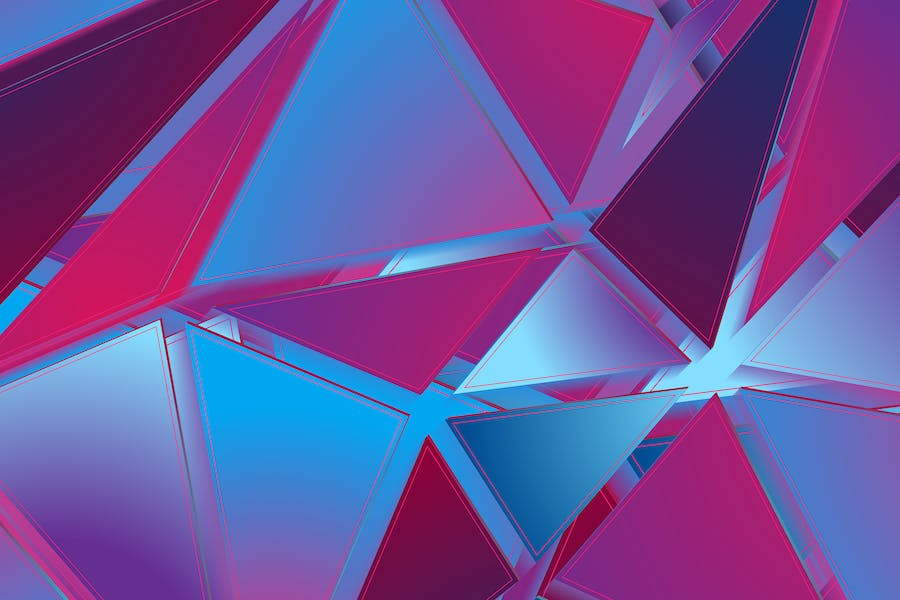 Abstract hi-tech geometric low poly background