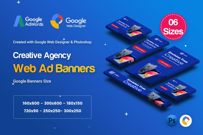 Thumbnail for C51 - Creative Agency Banners HTML5 Ad - GWD & PSD
