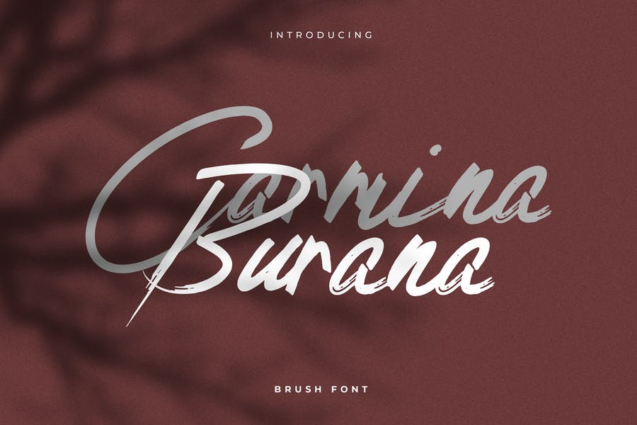 Carmina Burana - Grunge Brush Font