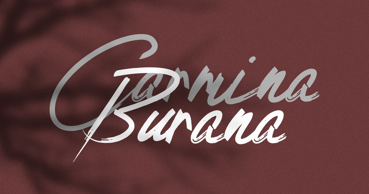 Download Carmina Burana - Grunge Brush Font by andrewtimothy