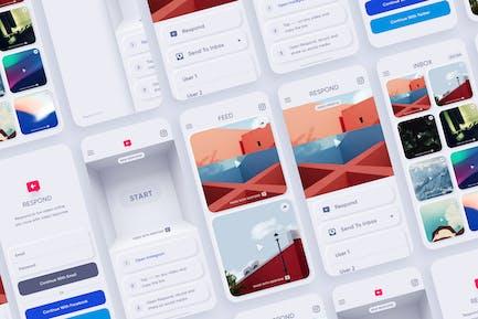 Respond – Neumorphic App Kit