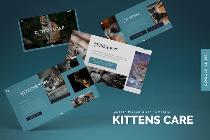Thumbnail for Уход за котятами - Шаблон слайдов Google