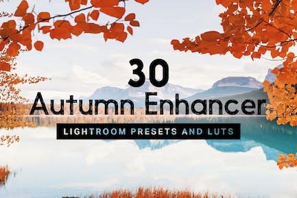 30 Autumn Enhancer Lightroom Presets and LUTs
