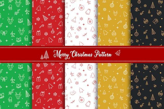 Merry Christmas Pattern & Digital Paper Pack