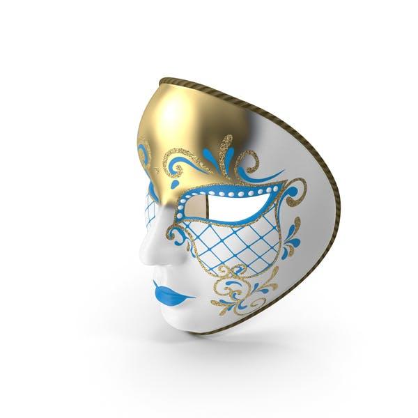 Blaue Vollgesichtsmaske für Karneval