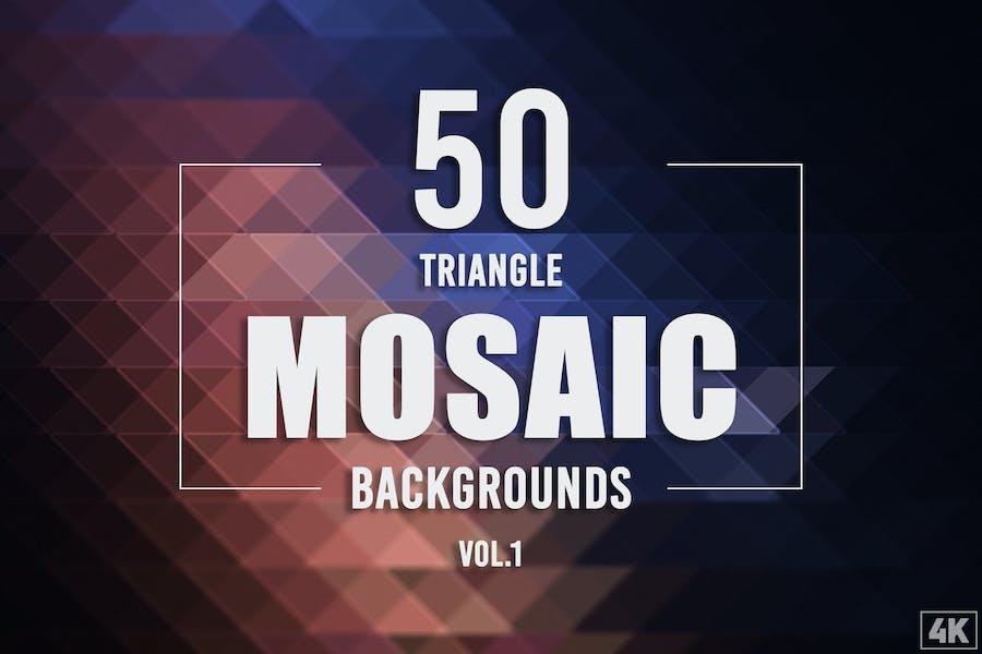 50 Dreieck-Mosaik-Hintergründe - Band 1