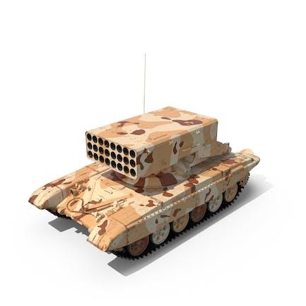 Sistema de lanzamiento de fuego pesado del desierto TOS-1A