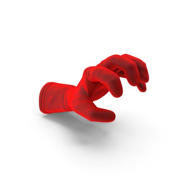 Glove Velvet Object Grip Pose