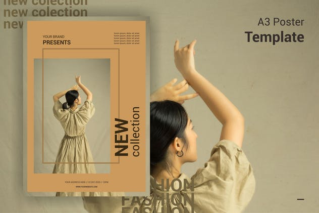 Fashion New Collection - A3 Poster Template - product preview 0