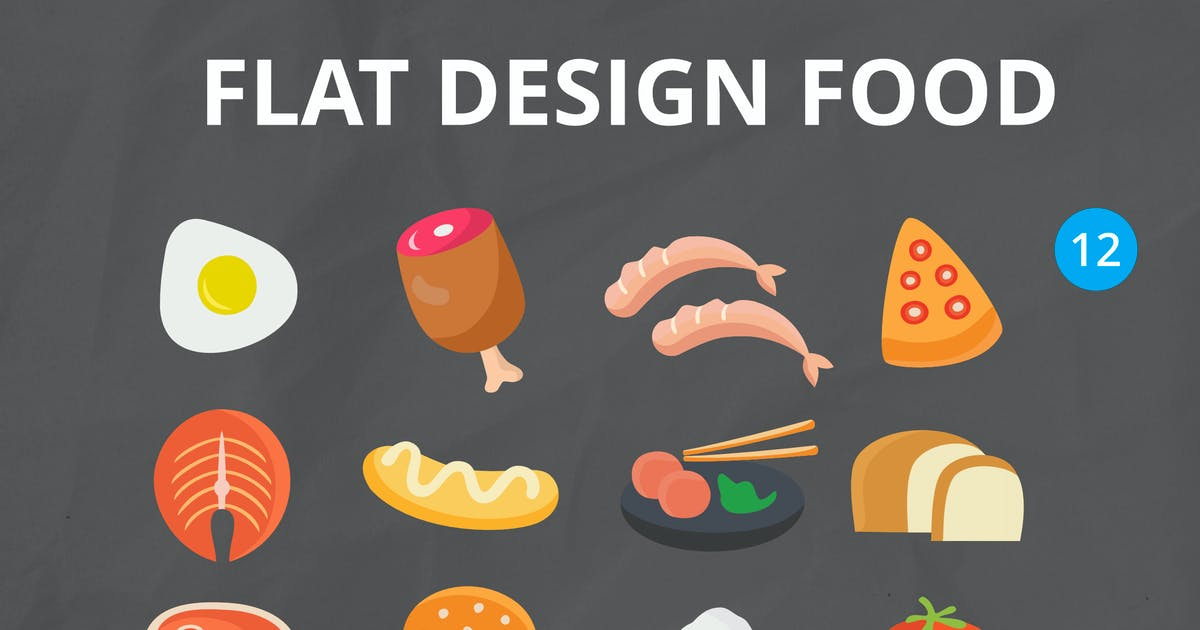 Download Flat Design Food by yandidesigns