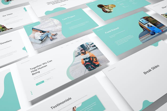 Thumbnail for Charity & Donations Powerpoint Template