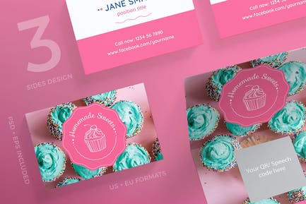 Handcrafted Sweets Business Card Template
