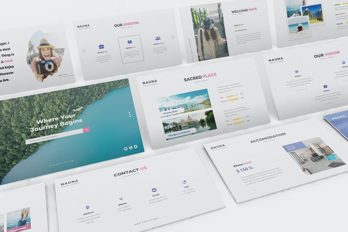 Thumbnail for Nauna - Travel Agency Google Slides Template