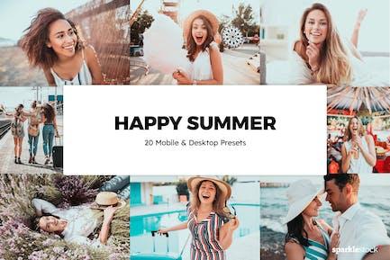 20 Happy Summer Lightroom Presets & LUTs