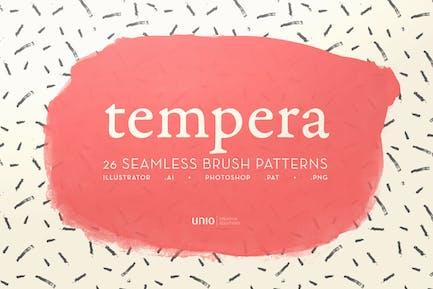 Tempera Brush Patterns