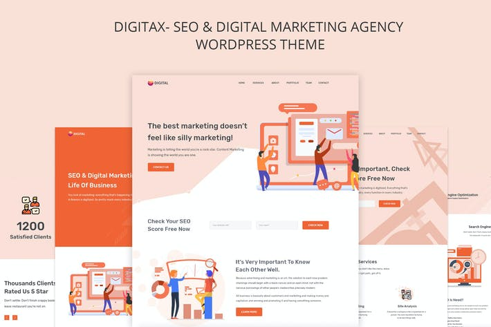 Thumbnail for Digitax - SEO & Digital Marketing Agency Themes