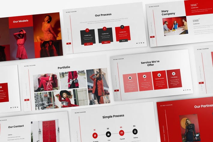 Thumbnail for Fashion Keynote Presentation Template