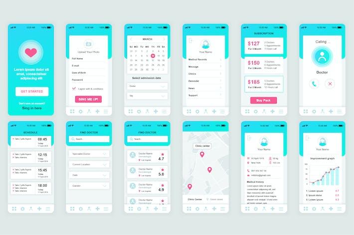 Thumbnail for Medicine Mobile App UI Kit