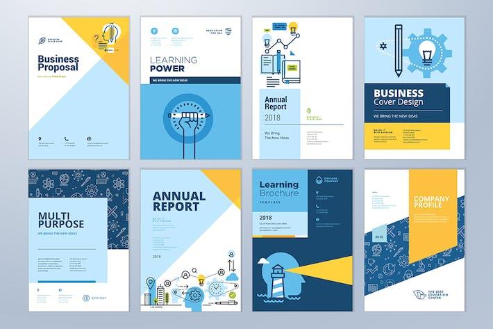 Thumbnail for Diseño de la portada del Folleto y Plantillas de disposición del Folleto