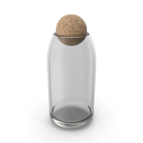 Thumbnail for Glass Container with Cork