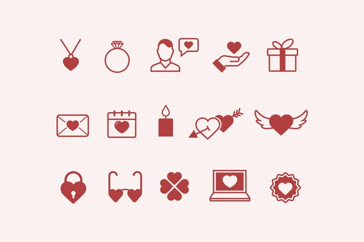 Thumbnail for 15 Romance & Love Icons
