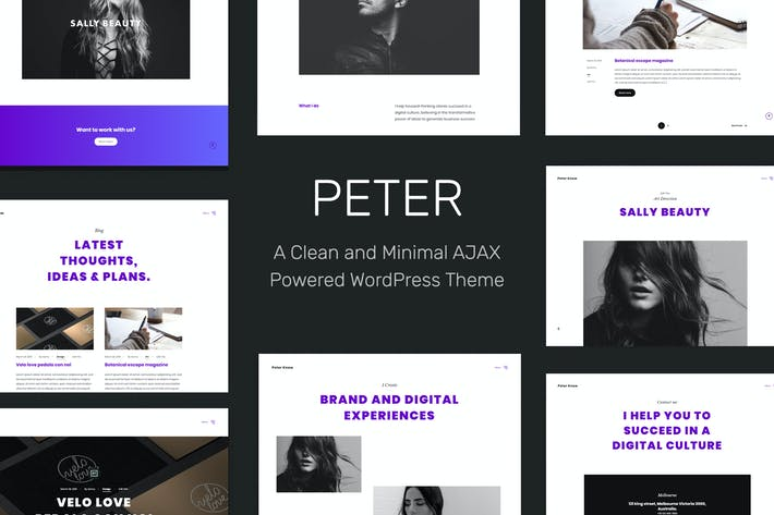 Thumbnail for Peter - Ajax Based Creative WordPress Thema