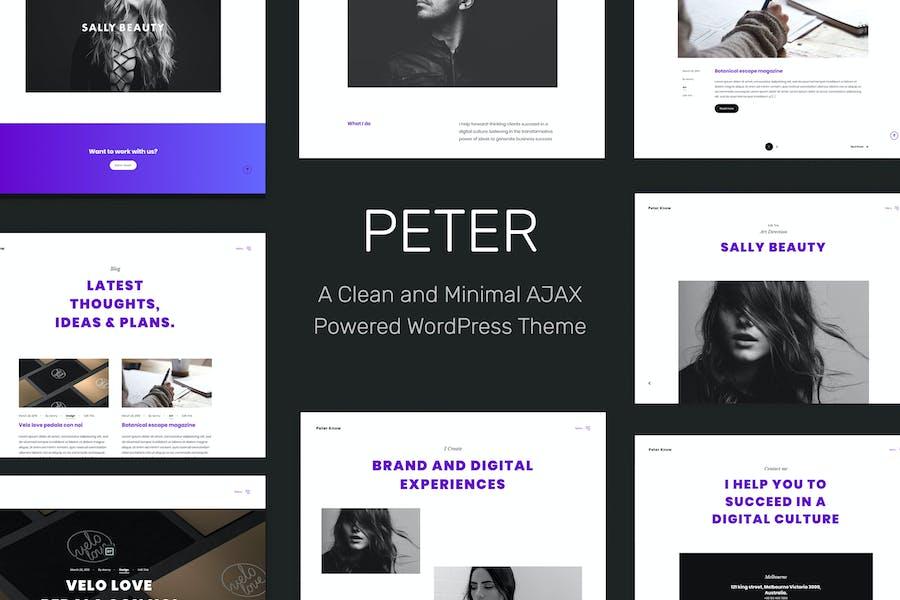 Peter - Ajax Based Creative WordPress Theme
